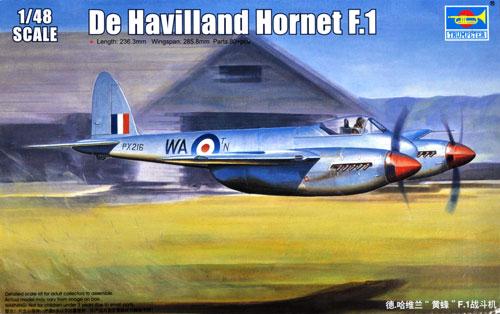 デ・ハビランド ホーネット F.1プラモデル(トランペッター1/48 エアクラフト プラモデルNo.02893)商品画像