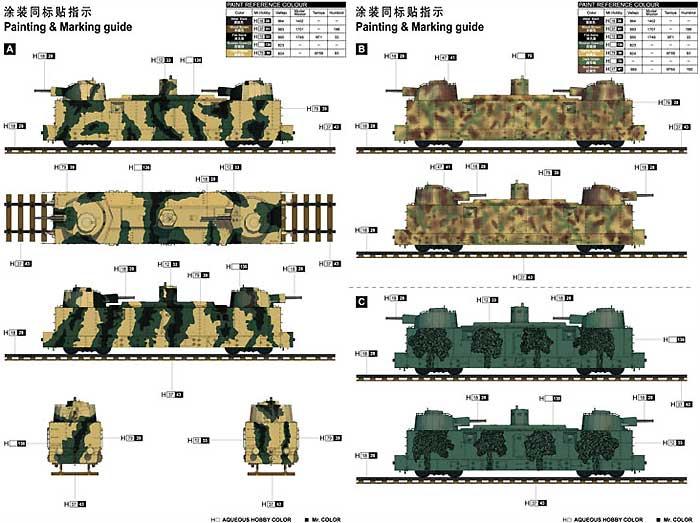ソビエト PL-37 軽砲貨車 装甲列車編成プラモデル(トランペッター1/35 AFVシリーズNo.00222)商品画像_2