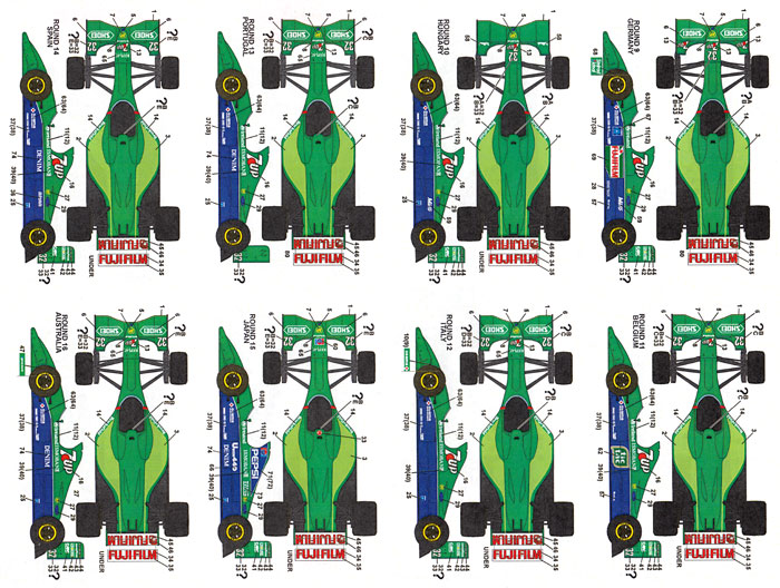 ジョーダン 191 フルシーズン 1991 デカールデカール(スタジオ27F-1 オリジナルデカールNo.DC1072)商品画像_2