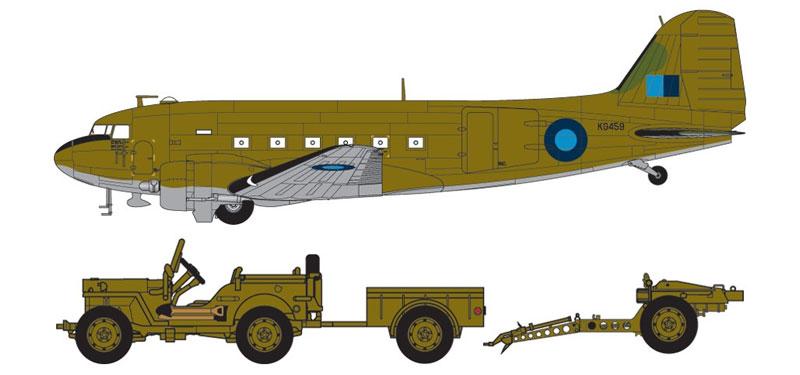 ダグラス ダコタ Mk.3 & ウィリス ジーププラモデル(エアフィックス1/72 ミリタリーエアクラフトNo.A09008)商品画像_2