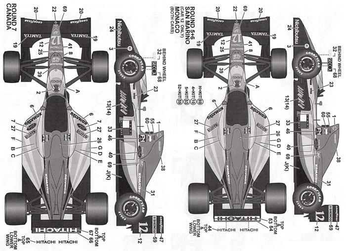 ロータス Type107 1992デカール(タブデザイン1/20 デカールNo.TABU-20136)商品画像_1