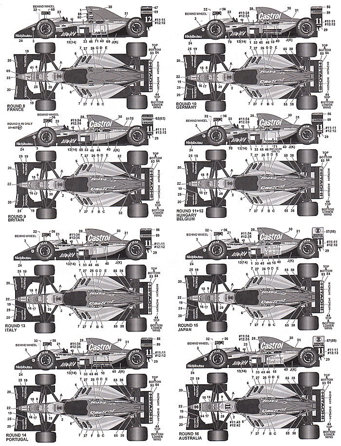 ロータス Type107 1992デカール(タブデザイン1/20 デカールNo.TABU-20136)商品画像_2