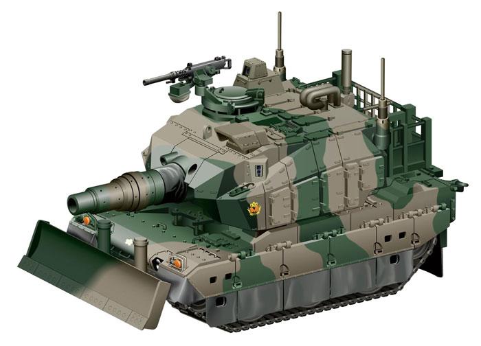 10式戦車 ドーザー付プラモデル(フジミちび丸ミリタリーNo.002)商品画像_3
