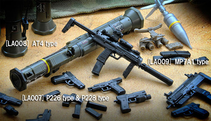 MP7A1タイププラモデル(トミーテックリトルアーモリー (little armory)No.LA009)商品画像_2