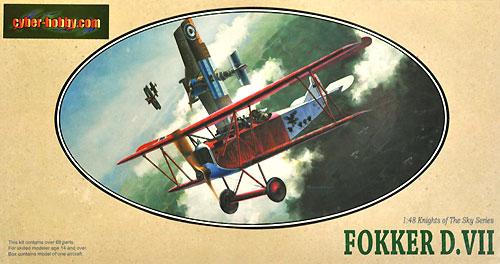フォッカー D.7プラモデル(サイバーホビー1/48 ナイト・オブ・ザ・スカイ シリーズNo.5905)商品画像
