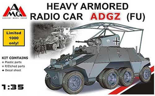 ドイツ オーストロ ダイムラー ADGZ 無線指揮型プラモデル(アーゼナル1/35 AFVNo.35504)商品画像
