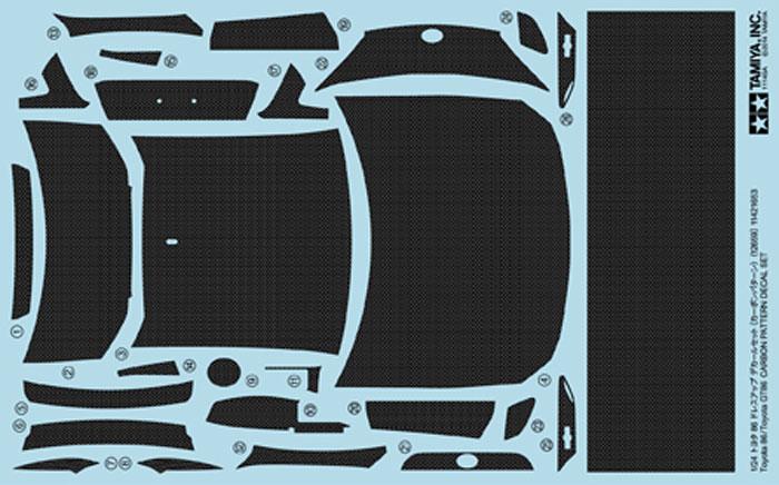 トヨタ 86 ドレスアップデカールセット (カーボンパターン)デカール(タミヤディテールアップパーツシリーズ (自動車モデル)No.12659)商品画像_1