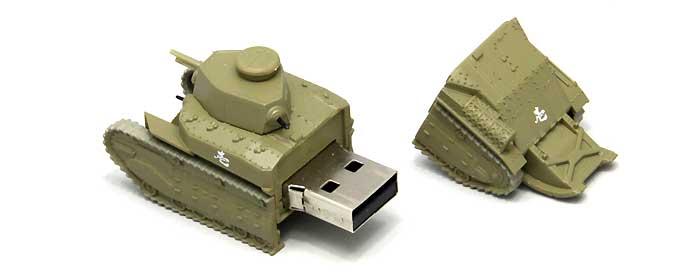 八九式中戦車 甲型 USBメモリ 1(発見時/練習試合時)完成品(ファインモールドガールズ&パンツァー 戦車USBメモリ シリーズNo.95001)商品画像_2