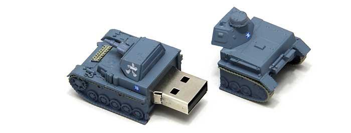 4号戦車 D型 USBメモリ 1 (発見時-練習試合時)完成品(ファインモールドガールズ&パンツァー 戦車USBメモリ シリーズNo.95005)商品画像_2