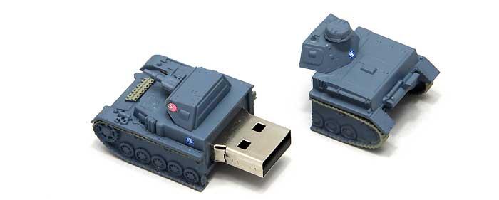 4号戦車 D型 USBメモリ 2 (全国大会時)完成品(ファインモールドガールズ&パンツァー 戦車USBメモリ シリーズNo.95006)商品画像_2