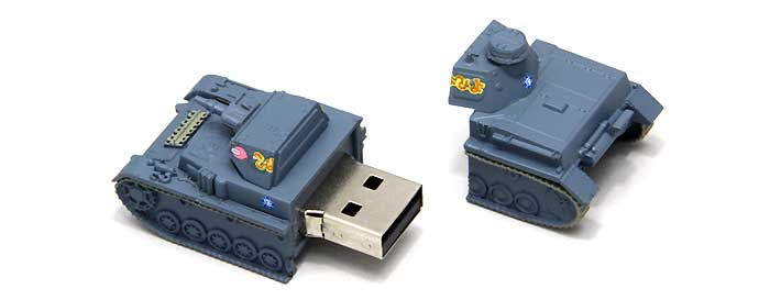 4号戦車 D型 USBメモリ 3 (アンツィオ模擬戦時)完成品(ファインモールドガールズ&パンツァー 戦車USBメモリ シリーズNo.95007)商品画像_2