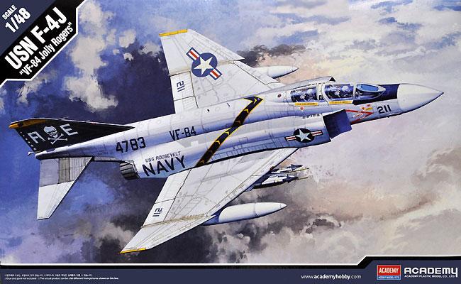 USN F-4J ファントム 2 VF-84 ジョリー ロジャースプラモデル(アカデミー1/48 Scale AircraftsNo.12305)商品画像