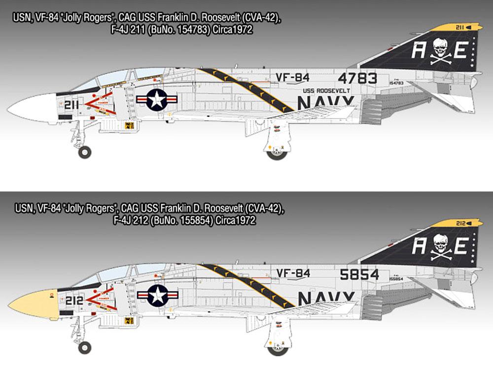 USN F-4J ファントム 2 VF-84 ジョリー ロジャースプラモデル(アカデミー1/48 Scale AircraftsNo.12305)商品画像_1