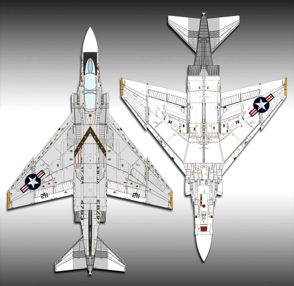 USN F-4J ファントム 2 VF-84 ジョリー ロジャースプラモデル(アカデミー1/48 Scale AircraftsNo.12305)商品画像_2