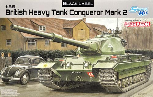 イギリス陸軍 FV214 コンカラー 重戦車プラモデル(ドラゴン1/35 BLACK LABELNo.3555)商品画像