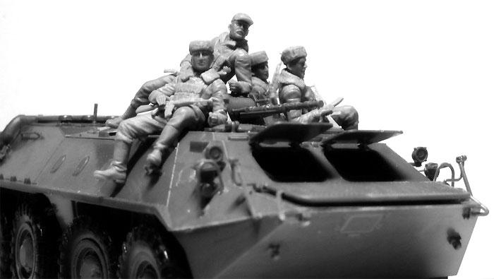 ソビエト 装甲兵員輸送車 搭乗兵 (1979-1991)プラモデル(ICM1/35 ミリタリービークル・フィギュアNo.35637)商品画像_2