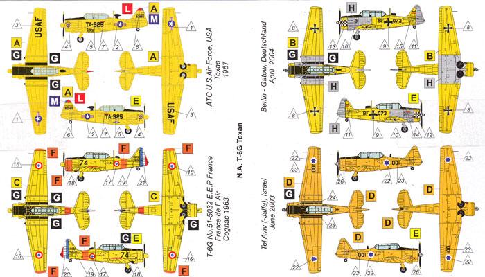 T-6G テキサンプラモデル(バロムモデル1/144 エアクラフトNo.14408)商品画像_1