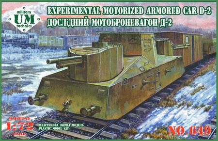 ロシア 試作型自走装甲列車 D-2 (76mm野砲塔 2基)プラモデル(ユニモデル1/72 AFVキットNo.649)商品画像