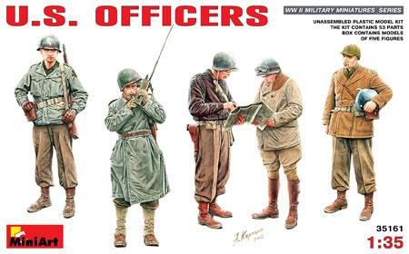 アメリカ軍将校プラモデル(ミニアート1/35 WW2 ミリタリーミニチュアNo.35161)商品画像