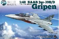 キティホーク1/48 ミリタリーエアクラフト プラモデルサーブ JAS-39B/D グリペン