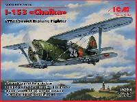 ICM1/72 エアクラフト プラモデルポリカルポフ I-153 チャイカ