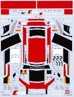 MZデカールミニッツレーサー対応 オリジナルデカールアウディ R8 WRT #1/#2 Spa 2014