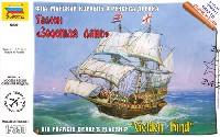 ズベズダ1/350 艦船モデルゴールデン ハインド (ガレオン船)