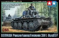 タミヤ1/48 ミリタリーミニチュアシリーズドイツ軽戦車 38(t) E/F型