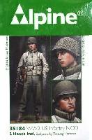 アルパイン1/35 フィギュアWW2 アメリカ軍 歩兵下士官 (機甲部隊用 冬ジャケット着用)