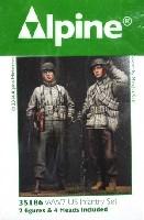 アルパイン1/35 フィギュアWW2 アメリカ軍 歩兵 (冬装) 2体セット