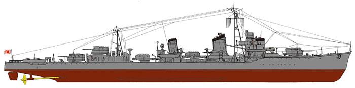日本海軍 夕雲型駆逐艦 早霜 (新装備付)プラモデル(ピットロード1/700 スカイウェーブ W シリーズNo.SPW034)商品画像_1