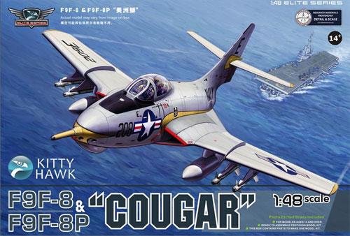 グラマン F9F-8&F9F-8P クーガープラモデル(キティホーク1/48 ミリタリーNo.KH80127)商品画像