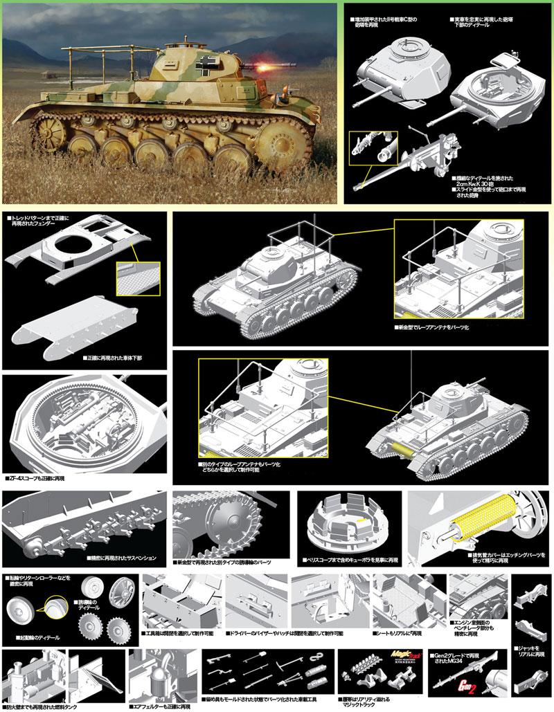ドイツ Pz.Beob.Wg.2 Ausf.A-C 2号戦車 砲兵観測車タイププラモデル(ドラゴン1/35 '39-'45 SeriesNo.6812)商品画像_2