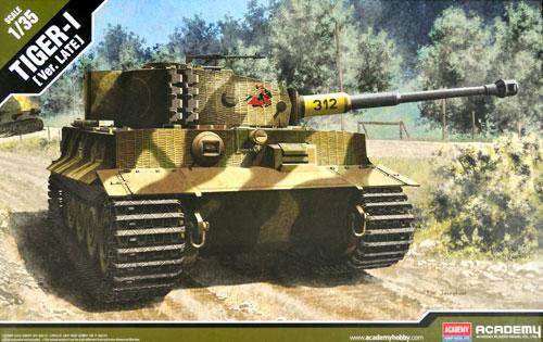 ドイツ タイガー 1 重戦車 後期型プラモデル(アカデミー1/35 ArmorsNo.13314)商品画像