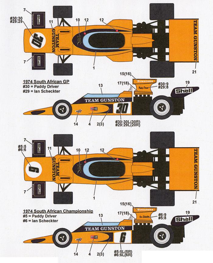 ロータス 72E チーム ガンストン 1974-75デカール(スタジオ27F-1 オリジナルデカールNo.DC1075)商品画像_1