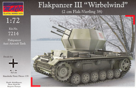 ドイツ ヴィルベルヴィント 3号戦車車体プラモデル(マコ1/72 AFVキットNo.7214)商品画像