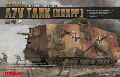 ドイツ A7V 戦車プラモデル(MENG-MODEL1/35 ティラノサウルス シリーズNo.TS-017)商品画像