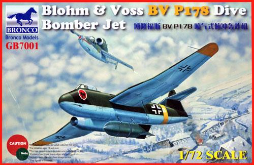 ブロームウントフォス Bv P178 ジェット急降下爆撃機プラモデル(ブロンコモデル1/72 エアクラフト プラモデルNo.GB7001)商品画像