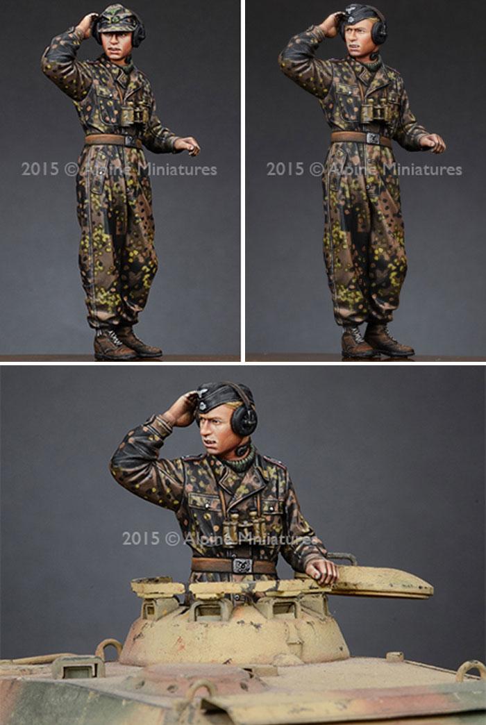 武装親衛隊 戦車指揮官 (迷彩服セット) 2体セットレジン(アルパイン1/35 フィギュアNo.AM35189)商品画像_3