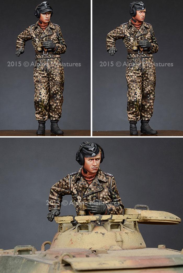 武装親衛隊 戦車指揮官 (迷彩服セット) 2体セットレジン(アルパイン1/35 フィギュアNo.AM35189)商品画像_4