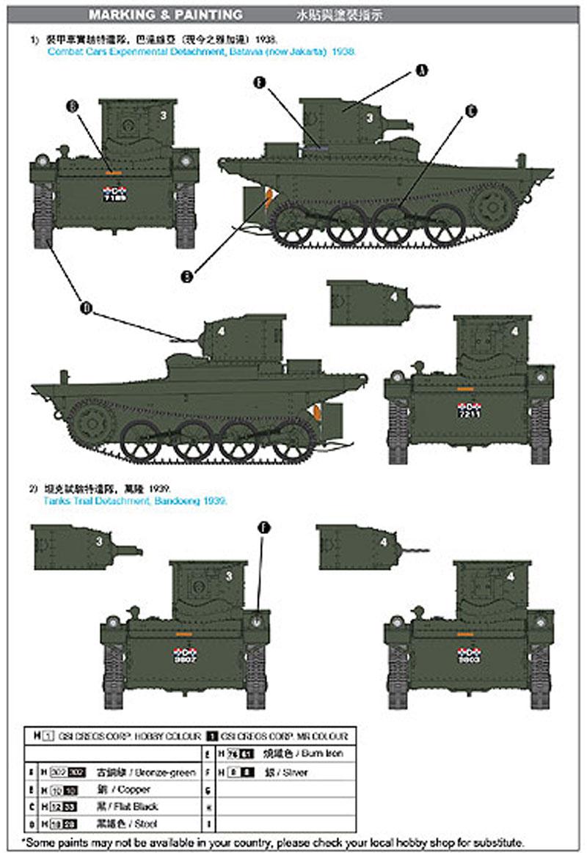 VCL ビッカーズ 水陸両用軽戦車 A4E12 王立オランダ東印度陸軍仕様プラモデル(CAMs1/35 AFVNo.CV35-003)商品画像_2