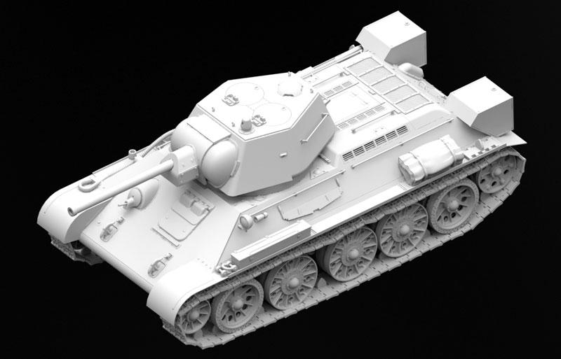 T-34/76 1943年 初期型プラモデル(ICM1/35 ミリタリービークル・フィギュアNo.35365)商品画像_2