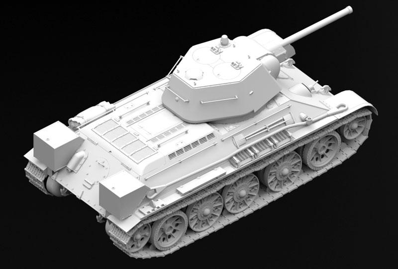 T-34/76 1943年 初期型プラモデル(ICM1/35 ミリタリービークル・フィギュアNo.35365)商品画像_3
