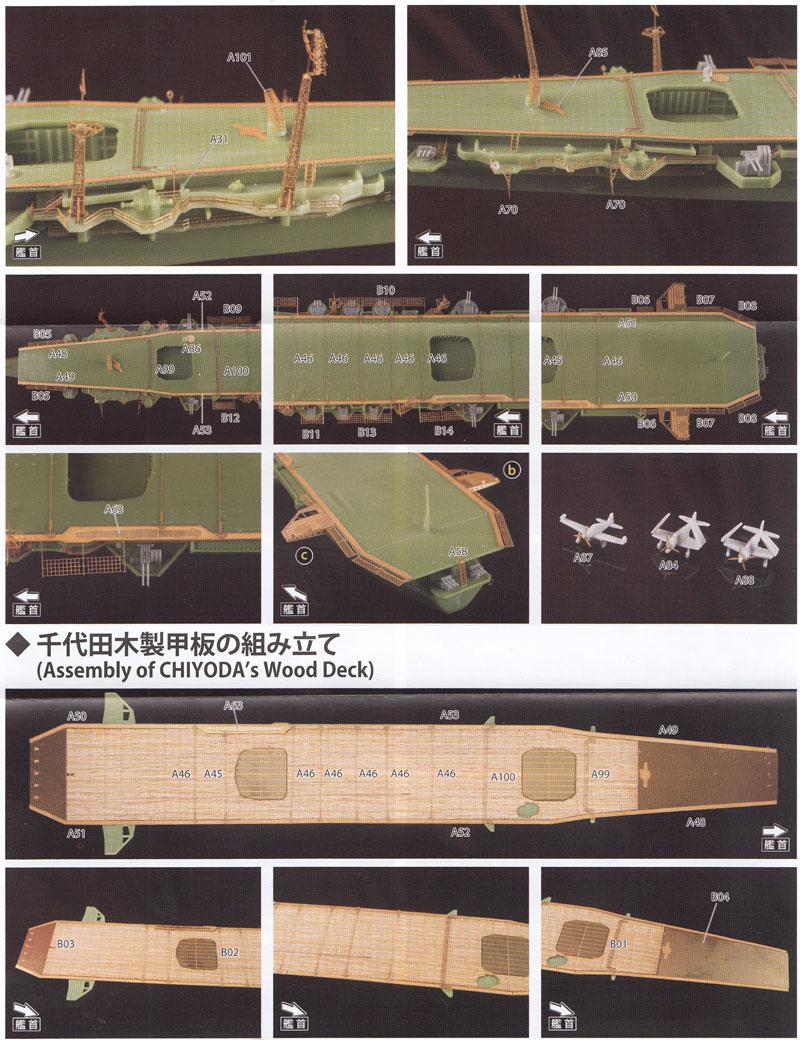 航空母艦 千歳型 甲板シート&エッチングパーツセットエッチング(アオシマ1/700 ウォーターライン ディテールアップパーツNo.009529)商品画像_4