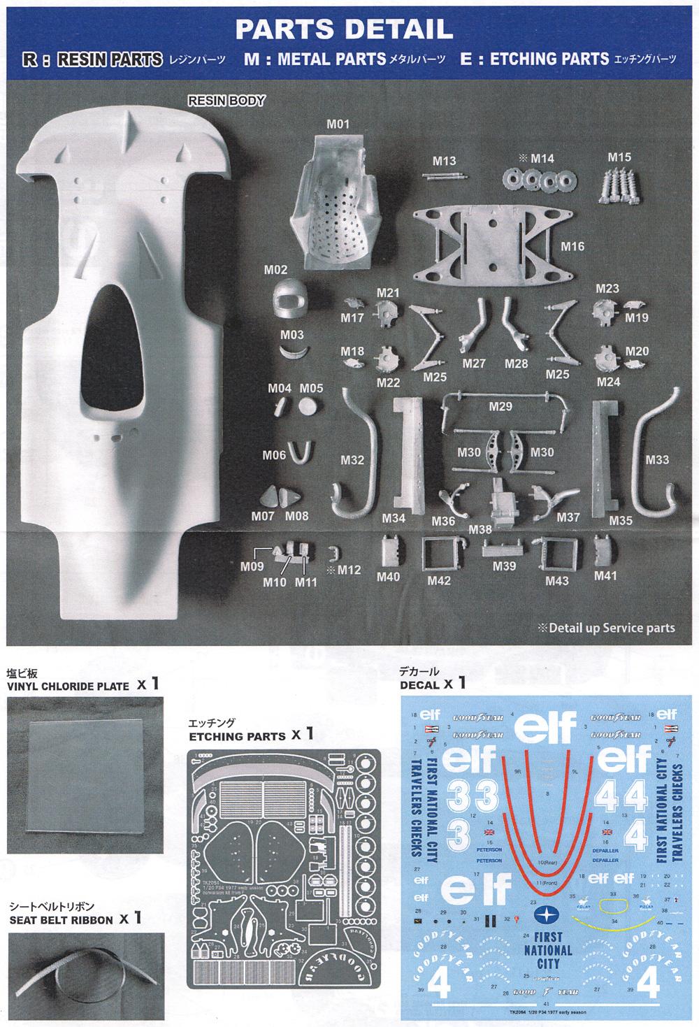 ティレル P34 1977 前期仕様トランスキット(スタジオ27F-1 トランスキットNo.TK2064)商品画像_1