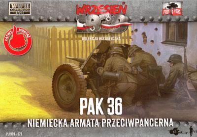 ドイツ 3.7cm Pak36 対戦車砲プラモデル(FTF1/72 AFVNo.72022)商品画像