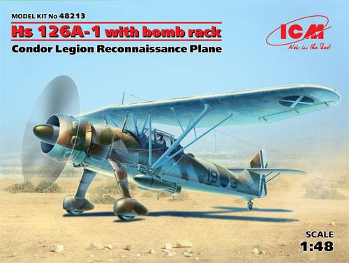 ヘンシェル Hs126A-1 偵察機 w/爆弾 コンドル軍団プラモデル(ICM1/48 エアクラフト プラモデルNo.48213)商品画像