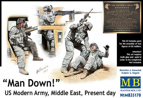 アメリカ 現用兵士 中東アフガン戦 車上捜索 1名負傷プラモデル(マスターボックス1/35 ミリタリーミニチュアNo.MB35170)商品画像