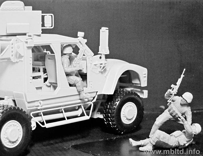 アメリカ 現用兵士 中東アフガン戦 車上捜索 1名負傷プラモデル(マスターボックス1/35 ミリタリーミニチュアNo.MB35170)商品画像_2