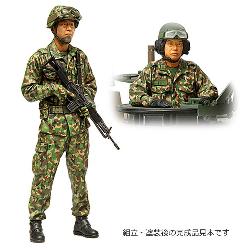 陸上自衛隊 戦車乗員セットプラモデル(タミヤ1/16 ワールドフィギュアシリーズNo.016)商品画像_3
